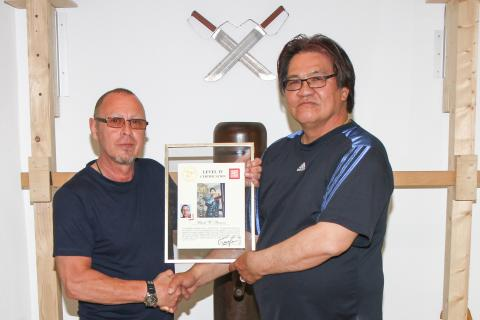 Sifu Stauner Ulrich - level four,  Gary Lam Wing Chun
