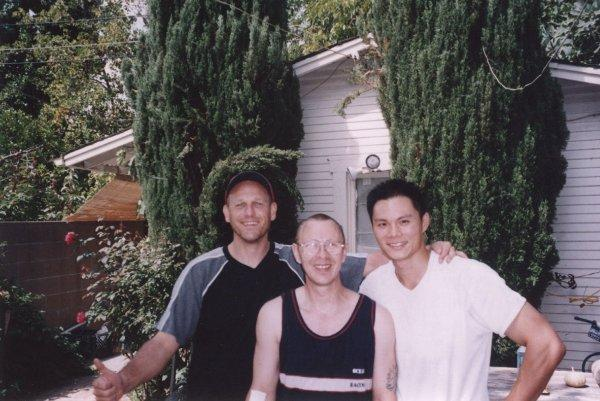 2004 Los Angeles Werner Leuschner, Ulrich Stauner, Peter Hsu at Gary Lam's Backyard